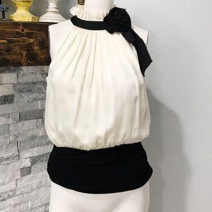 NWT White House Black Market Silk Sleeveless Top